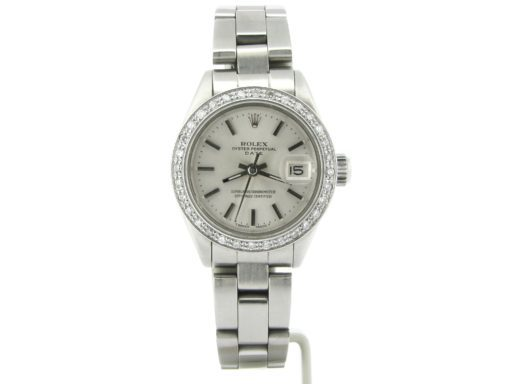 Rolex Stainless Steel Date 6917 Silver  Diamond-5