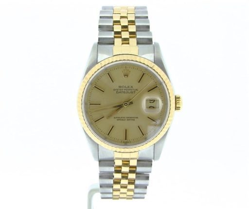Rolex Two-Tone Datejust 16233 Champagne -4