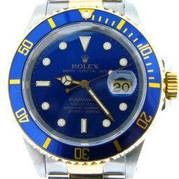 Mens Rolex Two-Tone 18K/SS Submariner Blue  16613 (SKU E677413ABCMT)