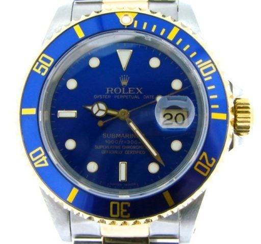 Rolex Two-Tone Submariner 16613 Blue -1