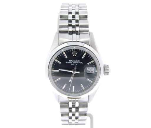 Rolex Stainless Steel Date 6916 Black -5
