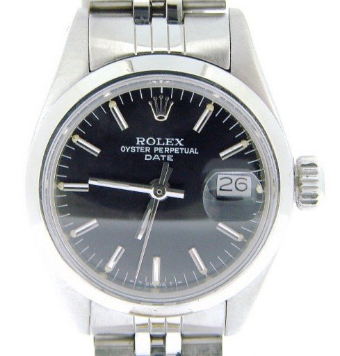 Rolex Stainless Steel Date 6916 Black -1