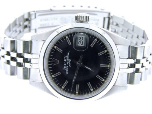 Rolex Stainless Steel Date 6916 Black -4