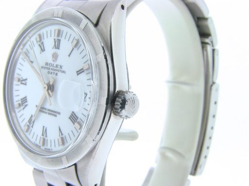 Rolex Stainless Steel Date 15010 White Roman-5