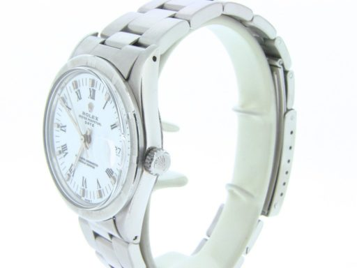 Rolex Stainless Steel Date 15010 White Roman-4