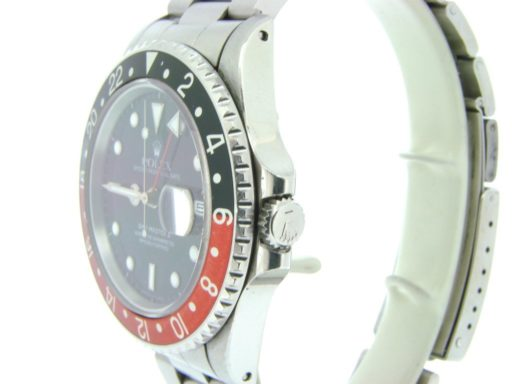 Rolex Stainless Steel GMT Master II 16710 Black & Red Coke -5