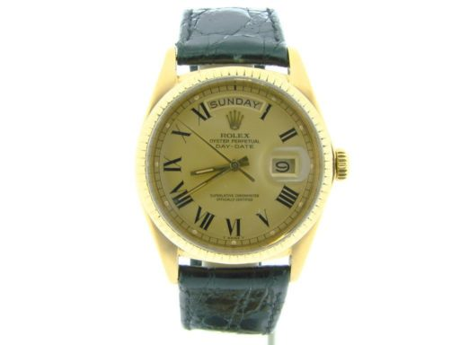 Rolex 18K Yellow Gold Day-Date President 1803 Champagne Roman-7