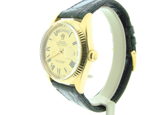 Rolex 18K Yellow Gold Day-Date President 1803 Champagne Roman-6