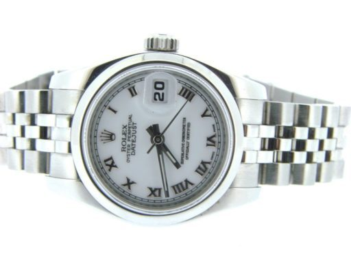 Rolex Stainless Steel Datejust 179160 White Roman-6