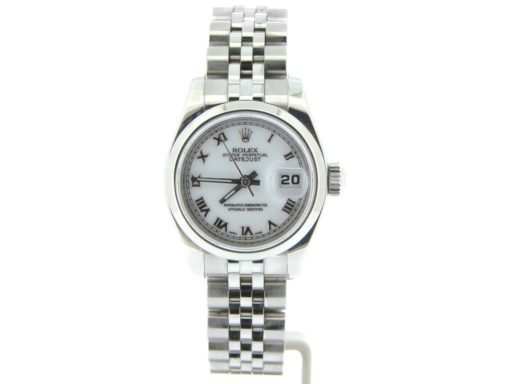 Rolex Stainless Steel Datejust 179160 White Roman-7