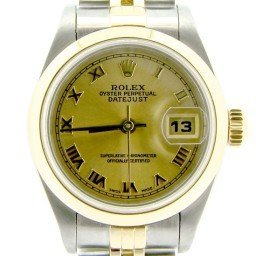 Ladies Rolex Two-Tone 18K/SS Datejust Champagne Roman 79163 (SKU Y532003NMT)