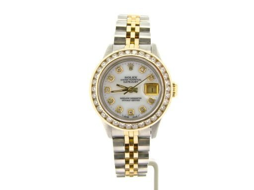 Rolex Two-Tone Datejust 69173 White MOP Diamond-7