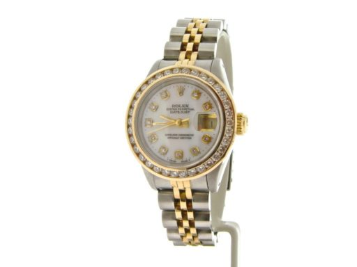 Rolex Two-Tone Datejust 69173 White MOP Diamond-6