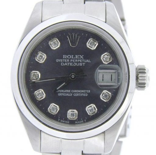 Rolex Stainless Steel Datejust 6916 Gray Slate Diamond-1