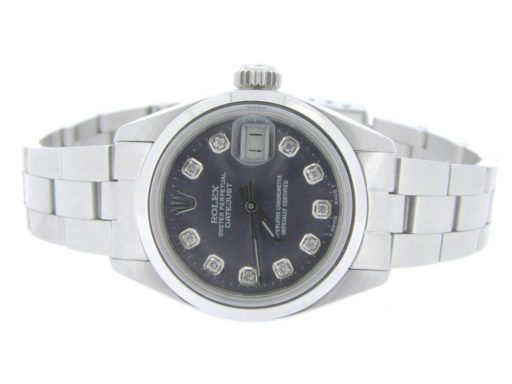 Rolex Stainless Steel Datejust 6916 Gray Slate Diamond-5
