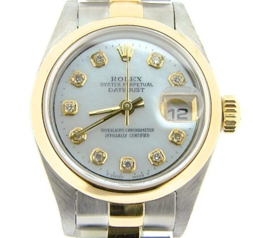 Rolex Two-Tone Datejust 79163 White MOP Diamond-1