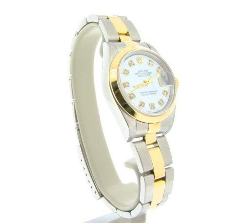Rolex Two-Tone Datejust 79163 White MOP Diamond-5
