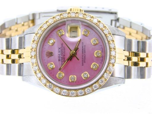 Rolex Two-Tone Datejust 69173 Pink MOP Diamond-5