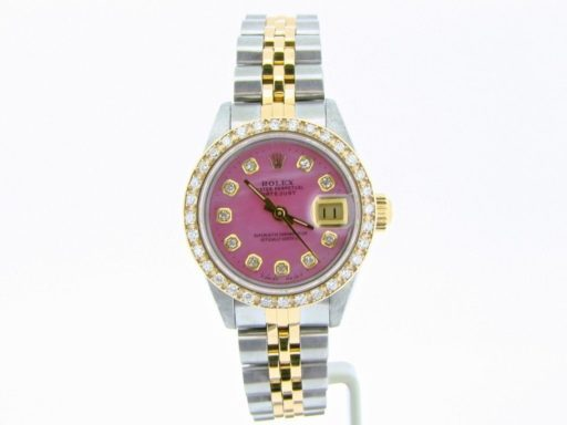Rolex Two-Tone Datejust 69173 Pink MOP Diamond-6