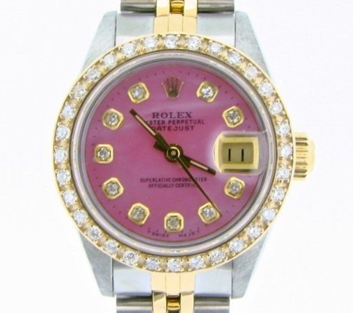 Rolex Two-Tone Datejust 69173 Pink MOP Diamond-1
