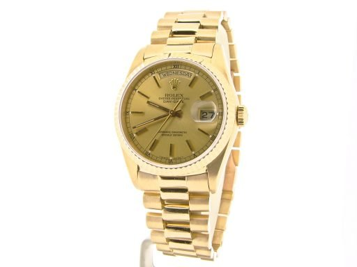 Rolex 18K Yellow Gold Day-Date President 18038 Champagne -5