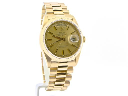 Rolex 18K Yellow Gold Day-Date President 18038 Champagne -4
