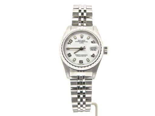 Rolex Stainless Steel Date 79240 White Arabic-8