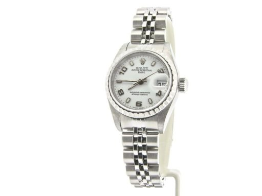 Rolex Stainless Steel Date 79240 White Arabic-7