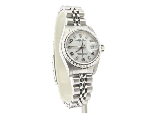 Rolex Stainless Steel Date 79240 White Arabic-6
