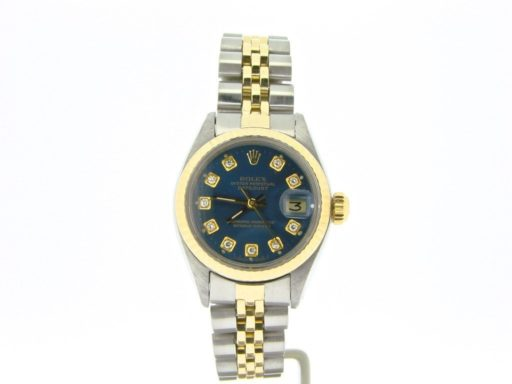 Rolex Two-Tone Datejust 6917 Blue Diamond-6