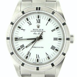 Mens Rolex Stainless Steel Air-King White Roman 14010