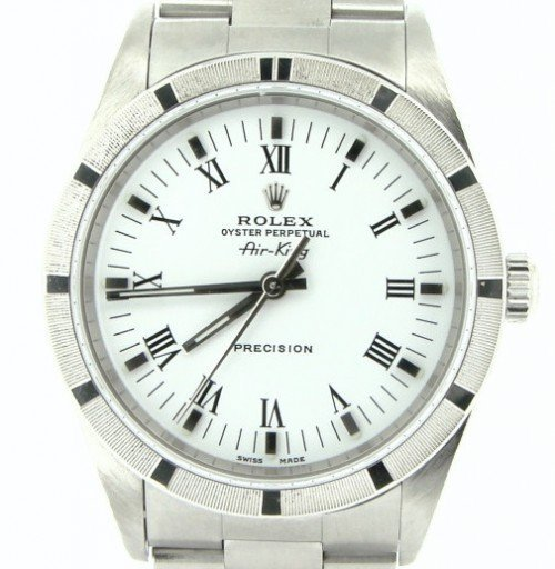 Rolex Stainless Steel Air-King 14010 White-1