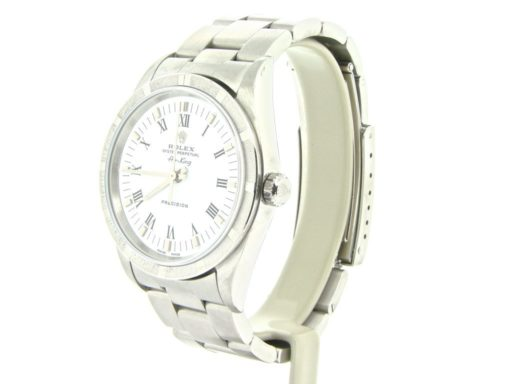 Rolex Stainless Steel Air-King 14010 White-5