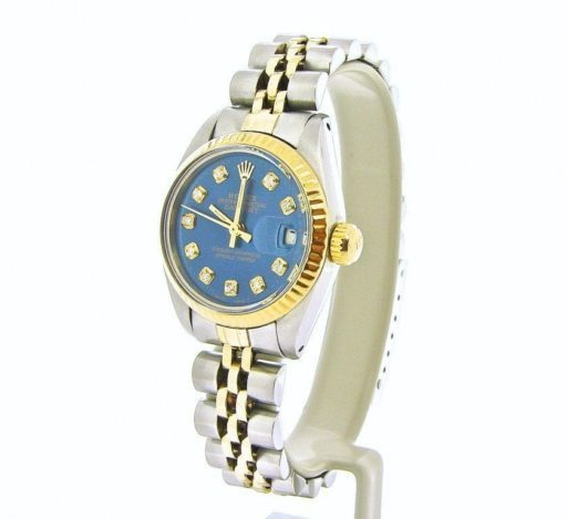 Rolex Two-Tone Datejust 69173 Blue Diamond-4