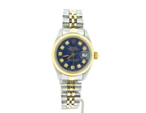 Rolex Two-Tone Datejust 69173 Blue Diamond-5