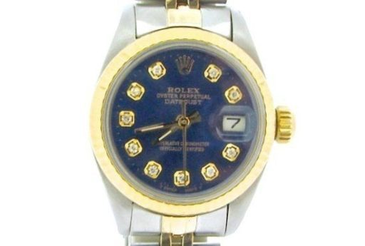 Rolex Two-Tone Datejust 69173 Blue Diamond-1
