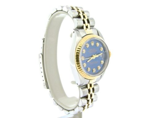 Rolex Two-Tone Datejust 69173 Blue Diamond-3