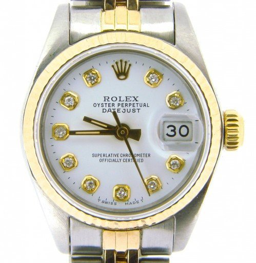 Rolex Two-Tone Datejust 69173 White Diamond-1