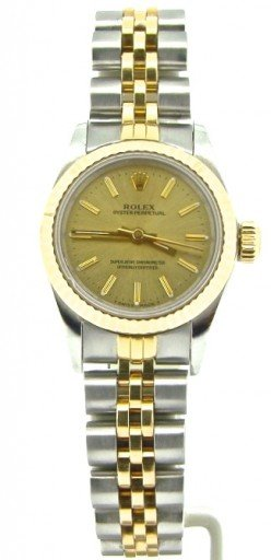 Rolex Two-Tone Oyster Perpetual 67193 Champagne -1