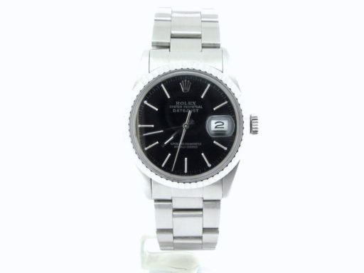 Rolex Stainless Steel Datejust 16030 Black -6