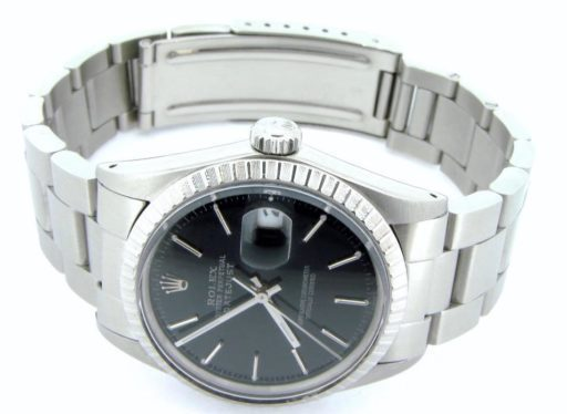 Rolex Stainless Steel Datejust 16030 Black -5