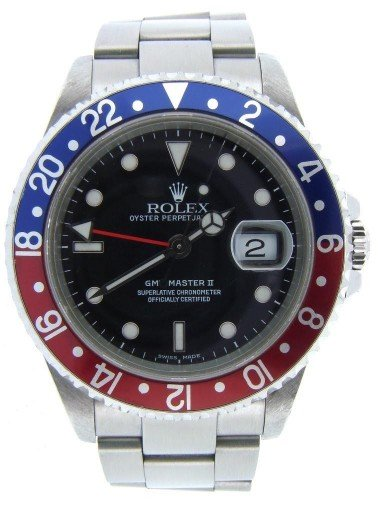 Rolex Stainless Steel GMT Master II 16710 Blue & Red Pepsi -7