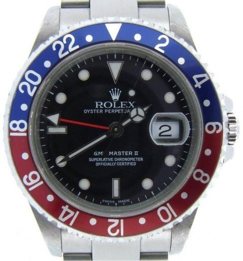 Rolex Stainless Steel GMT Master II 16710 Blue & Red Pepsi -1