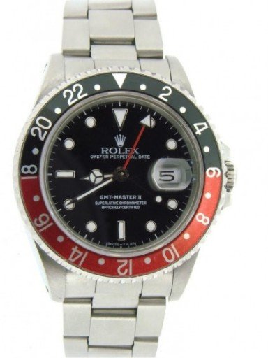 Rolex Stainless Steel GMT Master II 16710 Black & Red Coke -6