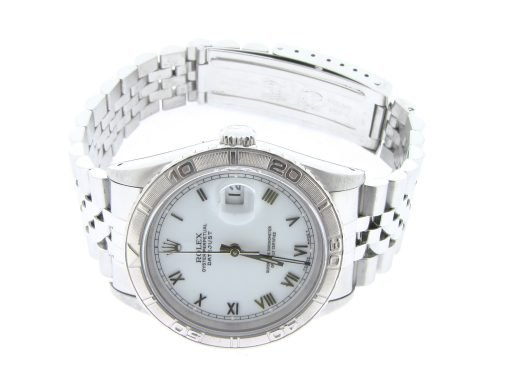 Rolex Stainless Steel Datejust 16264 White Turn-O-Graph-6