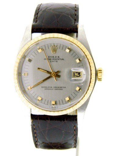 Rolex Two-Tone Date 1505 Gray Slate -5