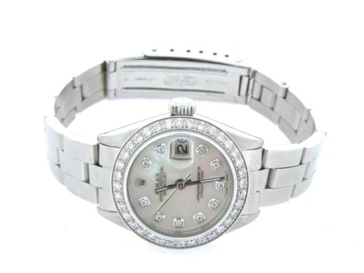Rolex Stainless Steel Datejust 6917 White MOP Diamond-5