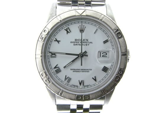 Rolex Stainless Steel Datejust 16264 White Turn-O-Graph-1