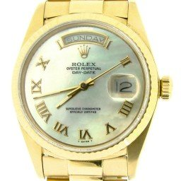 Mens Rolex 18K Gold Day-Date President White MOP Roman 18038 (SKU 8378214NMT)