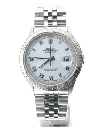 Rolex Stainless Steel Datejust 16264 White Turn-O-Graph-7